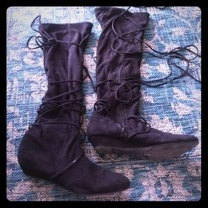 Multiway suede boots